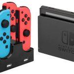 Estación de carga y soporte para hasta 4 Joy-Con de Nintendo Switch