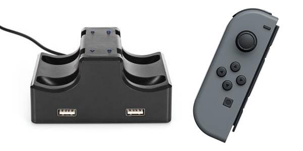 Base de carga con 2 puertos USB para Nintendo Switch