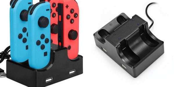 Base de carga para 4 Joy-Con de Nintendo Switch barata
