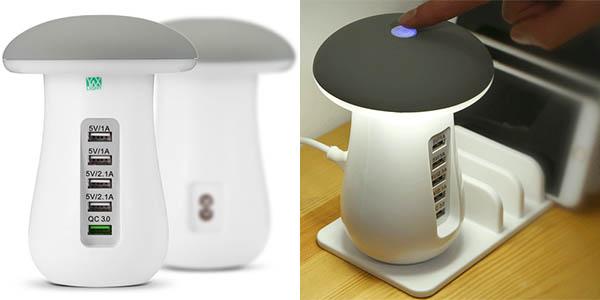 Lámpara LED y base de carga USB barata
