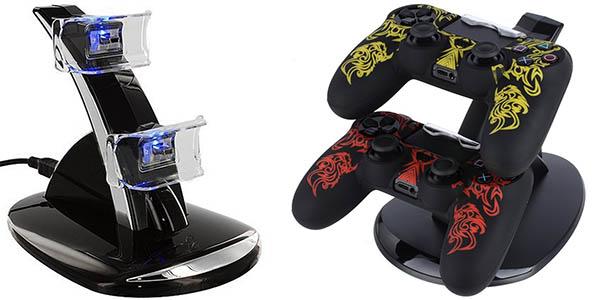 Base de carga dual para mandos de PS4 Dualshock 4