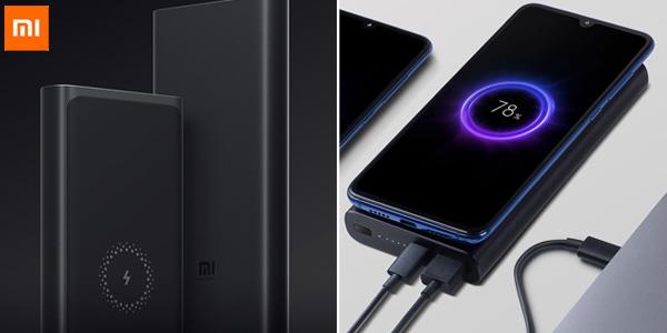 Batería USB portátil Xiaomi de 10.000 mAh con carga inalámbrica Qi chollo en AliExpress