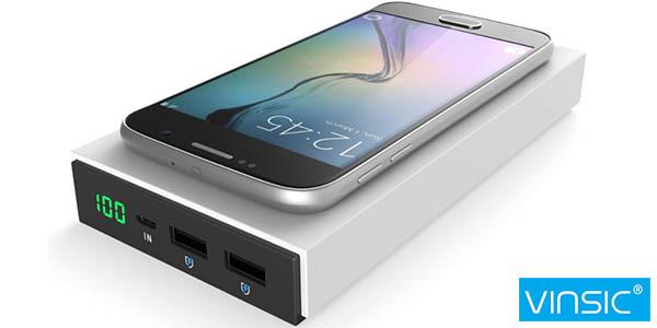 Batería portátil Vinsic 12000 mAh inalámbrica