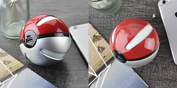 Powerbank con forma de Pokeball