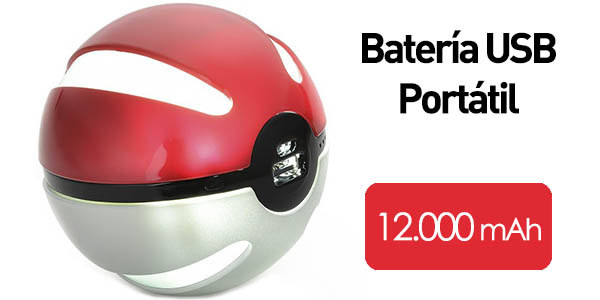 Batería USB portátil 12.000 mAh Pokeball