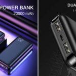 Batería portátil de 20.000 mAh con 2 puertos USB barata en AliExpress