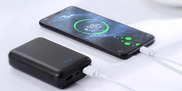 Batería portátil TOPK de 10.000 mAh con 2 puertos USB en AliExpress