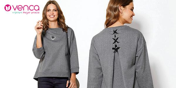 Blusa Venca en color gris para mujer barata en AliExpress Plaza