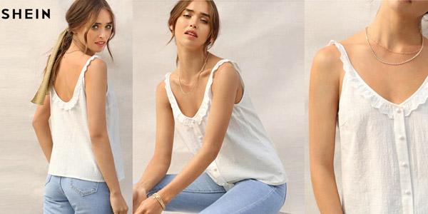 Blusa de tirantes Shein para mujer barata en AliExpress