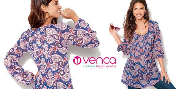 Blusa Venca estampada con botones en AliExpress Plaza