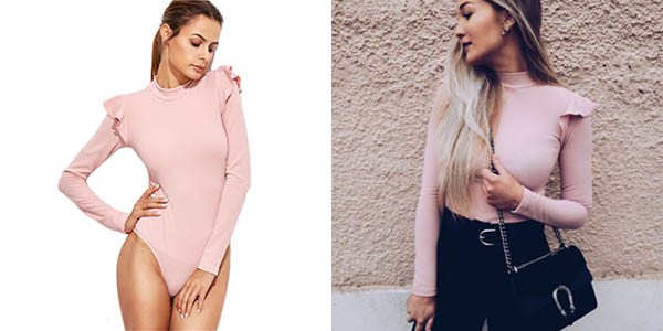 Body Shein rosa para mujer con descuento