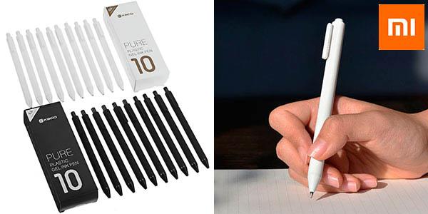 Pack de 10 bolígrafos Xiaomi Kaco de tinta de gel