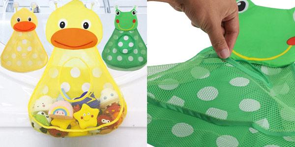 Bolsa de malla para juguetes para la bañera chollazo en AliExpress