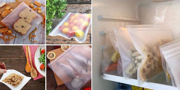 Bolsa para alimentos reutilizable chollo en AliExpress