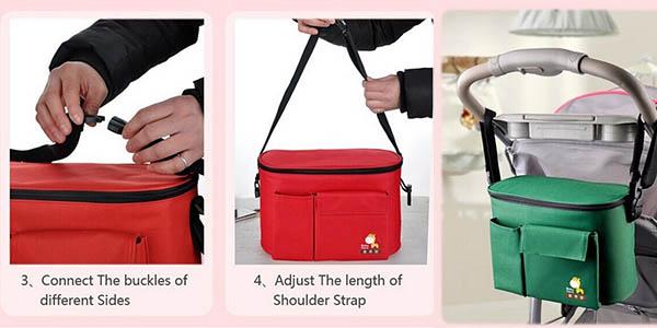 bolsa con cremallera de colores ajustable en altura