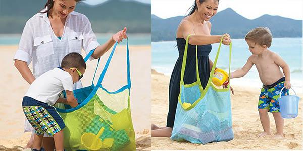 Bolsa de malla para juguetes de playa
