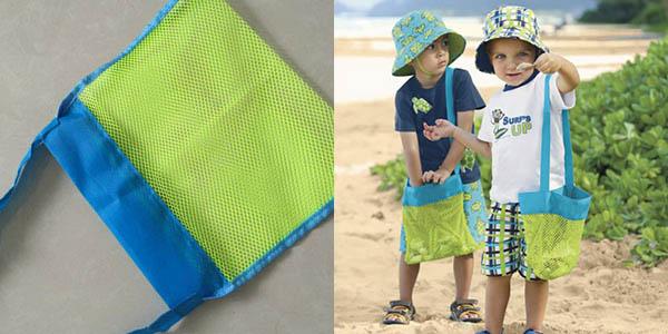 Bolsa de malla para juguetes de playa barata