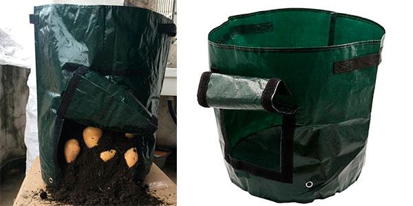 Bolsa para plantar patatas en casa de 50 litros de volumen barata