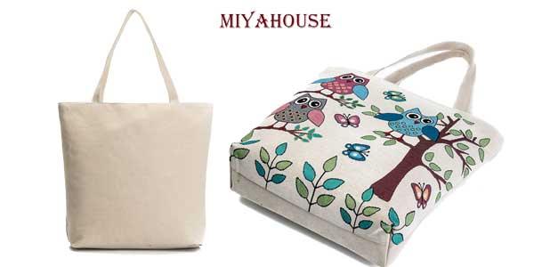 Bolso de lona Miyahouse con diseño de búhos chollo en AliExpress