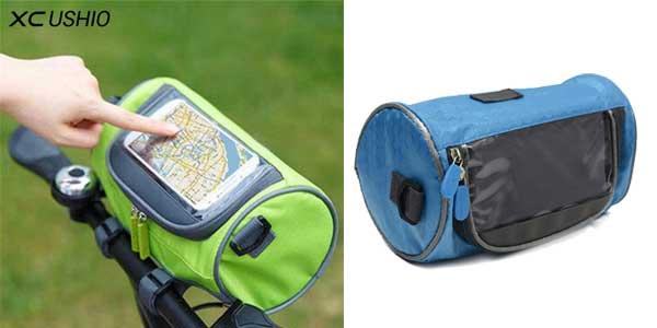 Bolsa impermeable XC Ushio para manillar de bicicletas con ventana táctil para Smartphone chollazo en AliExpress