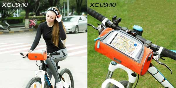 Bolsa impermeable XC Ushio para manillar de bicicletas con ventana táctil para Smartphone chollo en AliExpress