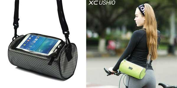 Bolsa impermeable XC Ushio para manillar de bicicletas con ventana táctil para Smartphone barata en AliExpress