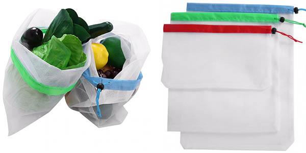 Pack de 15 bolsas para compra reutilizables