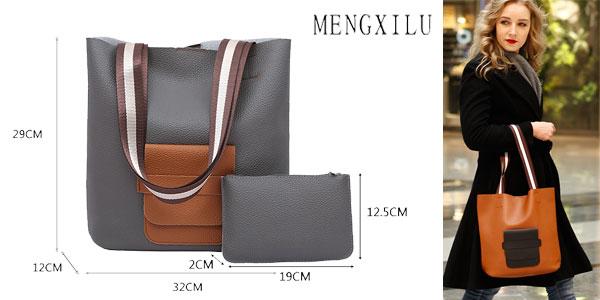 Bolso de cuero sintético Mengxilu en varios colores