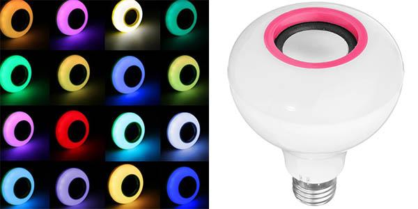 Bombilla LED RGB con Altavoz Bluetooth integrado