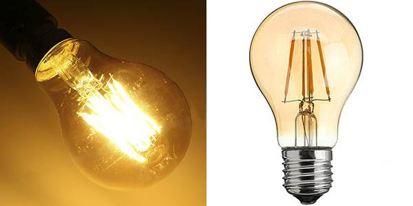 Bombilla LED filamento 4W estilo retro
