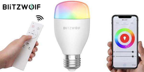 Bombilla WiFi BlitzWolf BW-LT27 con mando IR y compatible con Alexa y Google Home