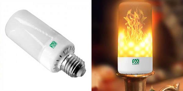 Bombilla LED E27 con efecto llama