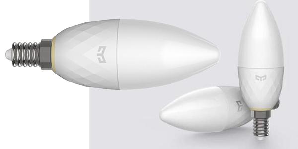 Bombilla Xiaomi Yeelight tipo vela barata en AliExpress
