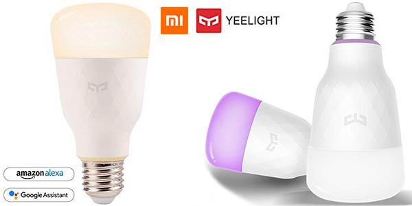 Bombilla LED Xiaomi Yeelight RGBW compatible con Alexa y Google Assinstant