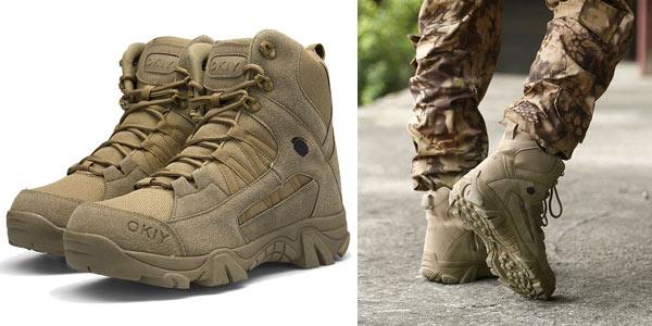 Botas militares Okiy para hombre chollo en AliExpress
