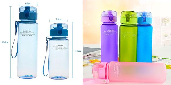 Botella de agua para senderismo (400 y 560 ml) barata