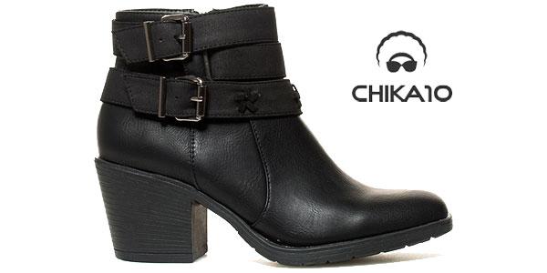 Botines Chika10 en color negro con tacón