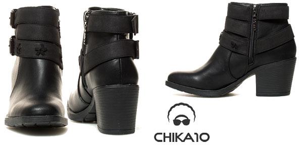 Botines Chika10 en color negro para mujer en AliExpress Plaza