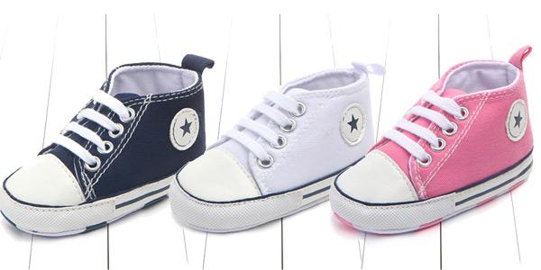 Zapatillas de tela para bebé estilo Converse chollazo en AliExpress