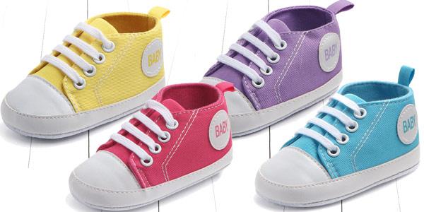 Zapatillas de tela para bebé estilo Converse baratas en AliExpress