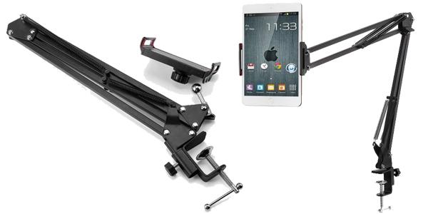 Soporte-brazo de metal articulado para tablet chollazo en Gearbest