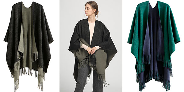 Bufanda gigante tipo poncho para mujer barata