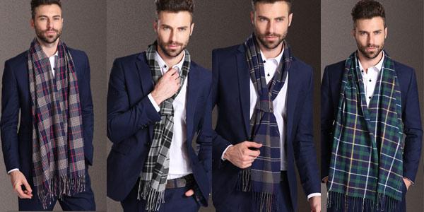 Selección de bufandas para hombre chollazo en AliExpress
