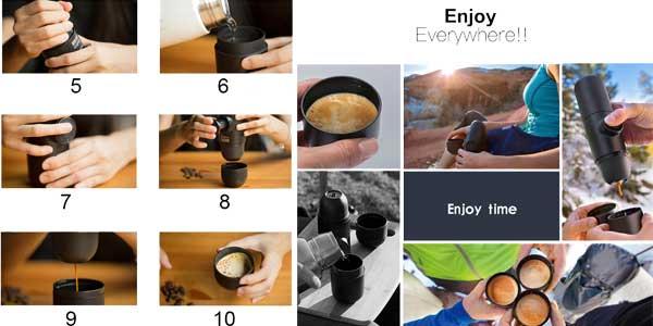 Chollo Cafetera de filtro portátil chollazo en Tomtop