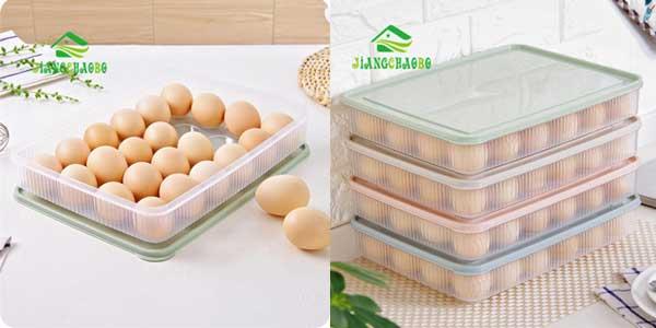 Recipiente con tapa para guardar huevos en la nevera