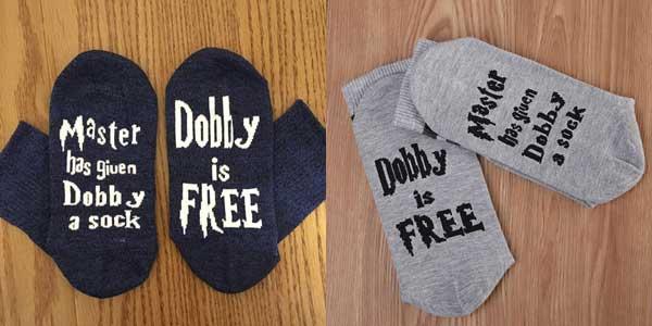 """Calcetines Harry Potter """"Dobby is Free"""" en talla única chollazo en Aliexpress"""
