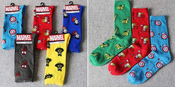 Calcetines Marvel baratos en AliExpress