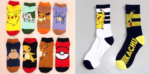 Calcetines unisex Pokemon baratos en AliExpress