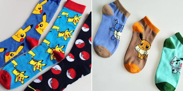 Calcetines unisex Pokemon chollo en AliExpress