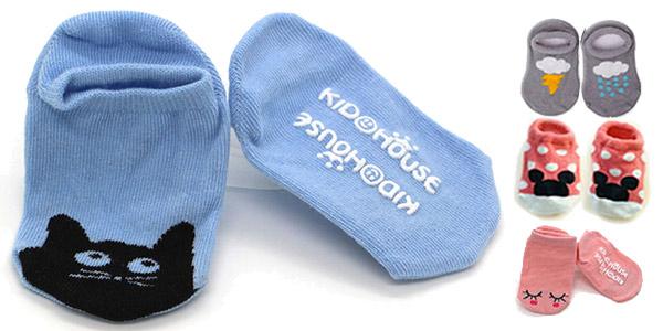 Calcetines para bebé con suela antideslizante